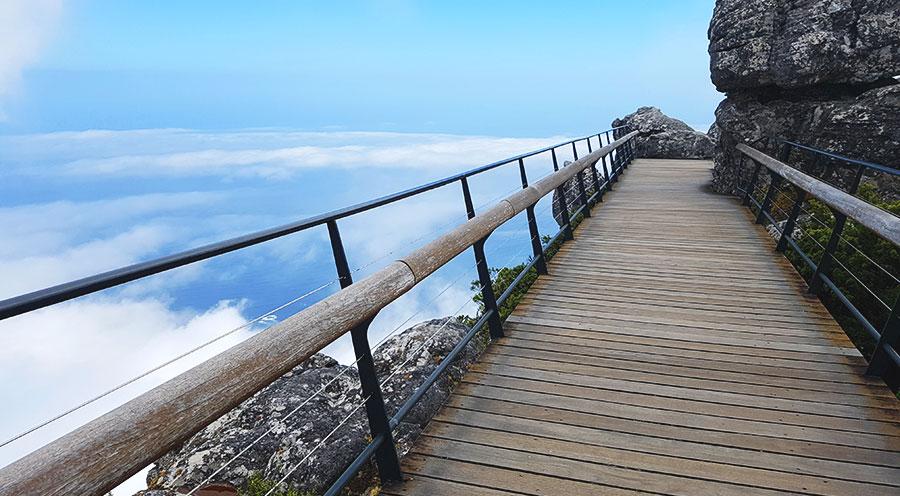 Sensations Voyage Afrique du Sud, pont de la table mountain merveille de la nature Cape Town