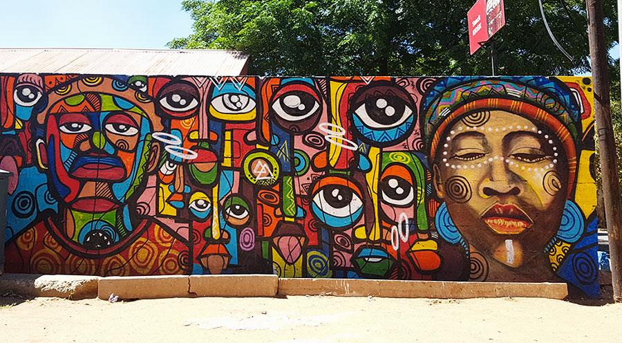 Sensations Voyage Afrique du Sud, Street art graf Soweto Johannesburg vs Cape Town
