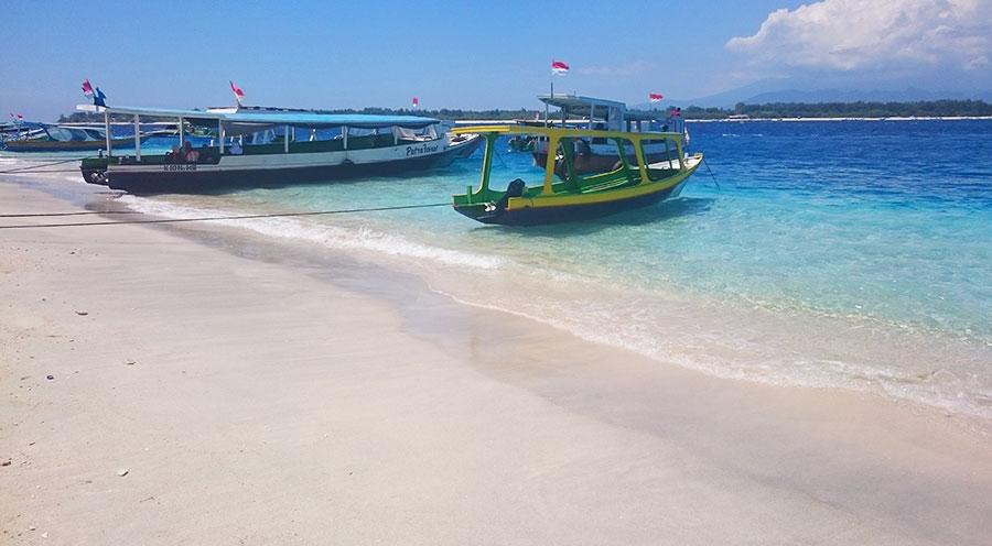 Sensations Voyage à Gili T., plage eaux turquoise