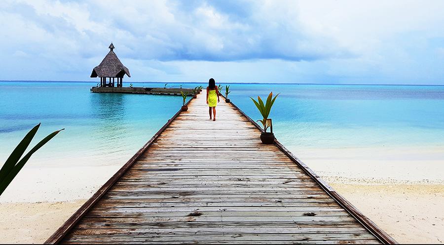 Sensations Voyages Maldives pas cher bons plans experiences ponton sur pilotis resort meedhoo island
