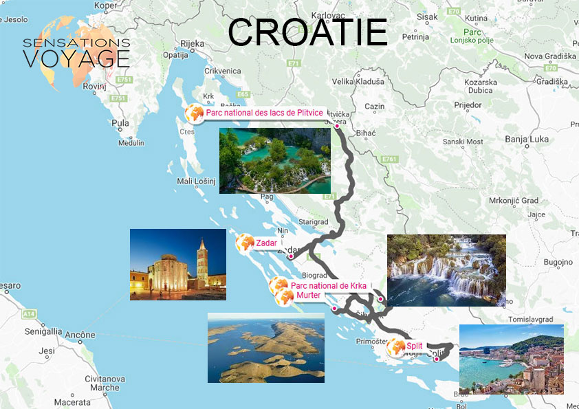 Carte Croatie A Telecharger.Voyage En Croatie Paysages En Cascade Sensations Voyage