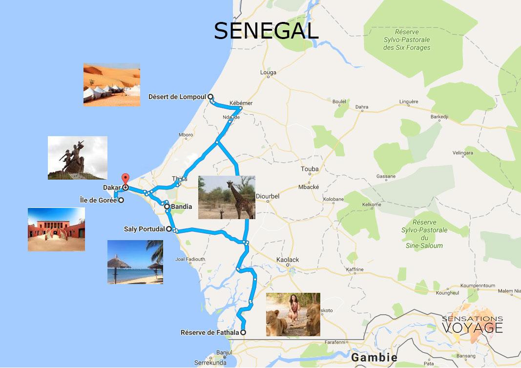 sensations-voyage-sénégal-carte-touristique