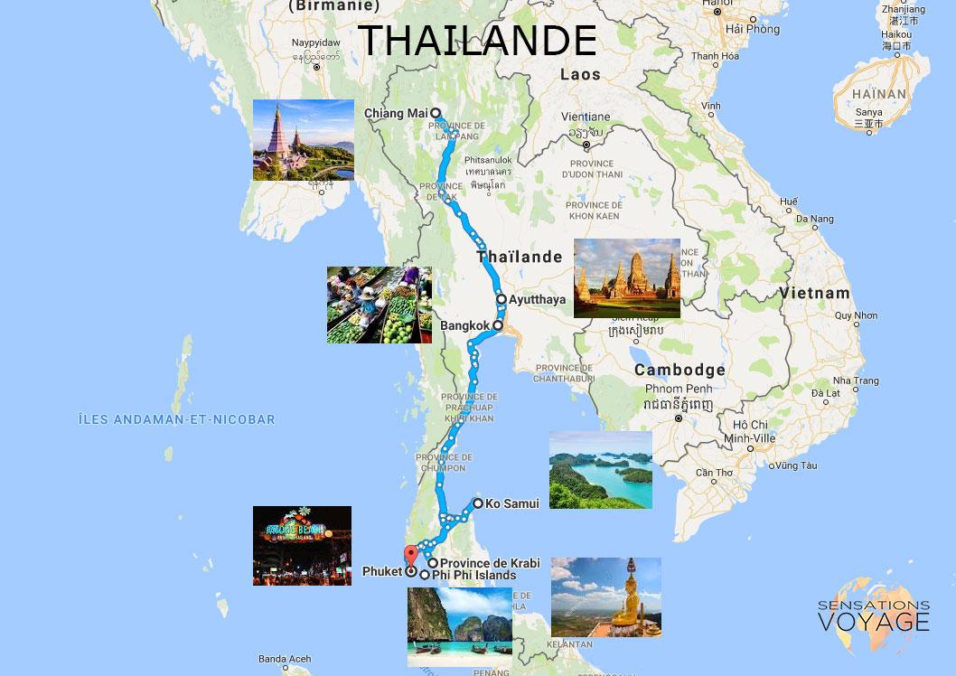 Ayutthaya Carte Thailande.Voyage En Thailande Que Faire En 10 Jours Sensations Voyage