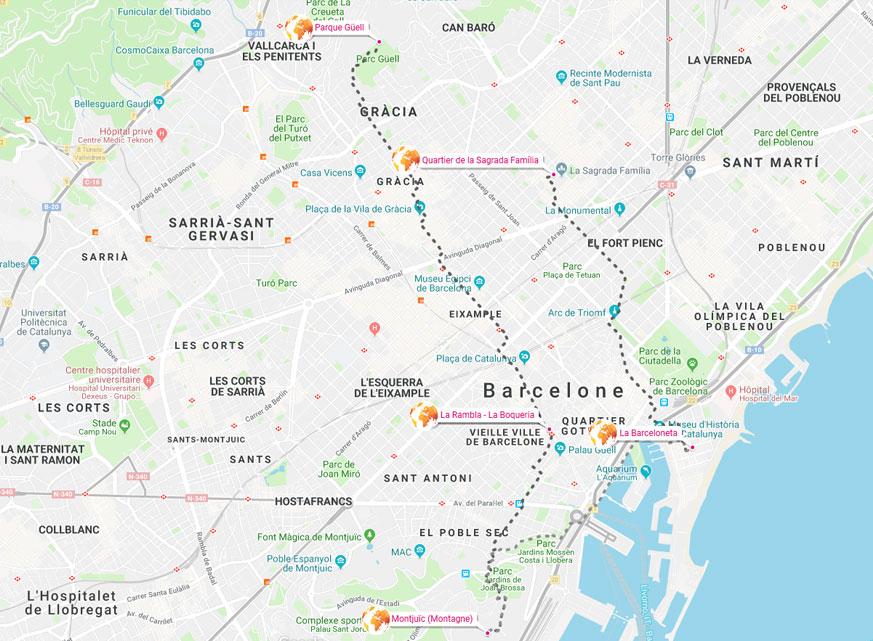 Carte Et Infos Pratiques Barcelone